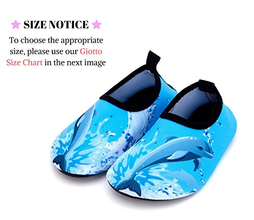 Giotto Kids Swim Water Shoes Quick Dry Antiscivolo Per Ragazzi E Ragazze D-blue