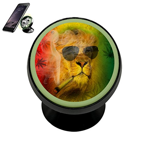 Luminous Magnetic Phone Car Mount Holder, Universal 360 Rotation Magnetic Car Phone Holder Stand, Metal Mobile Phone Holder For Car Dashboard Mount Cigar - Sunglasses Talking While