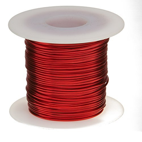 Remington Industries 15SNSP Magnet Wire, Enameled Copper Wire, 15 AWG, 1.0 lb., 100', 3'' Length, 0.0583'' Diameter, Red