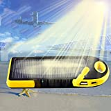Solar Charger Case,Sandistore Portable Solar Power Bank Waterproof/Shockproof/Dustproof Dual USB Battery Bank for cell phone,iPhone,Samsung,Android phones,Windows phones,GoPro Camera,GPS and More (D)