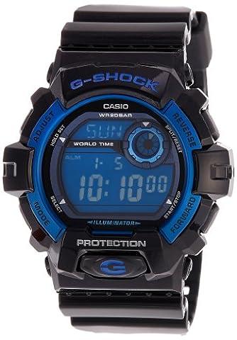 Casio Men's Sport G8900A-1 Black Resin Quartz Watch with Blue Dial (Blue G Shock Men)