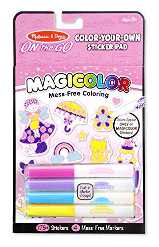 Melissa & Doug On the Go Magicolor Color-Your-Own Sticker Pa