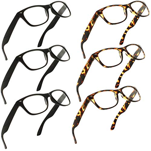 Reading Glasses 1.50 | 6 Pack Spring Hinge Trendy Readers fo
