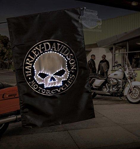 Harley-Davidson Fiber Optic Skull House Flag -