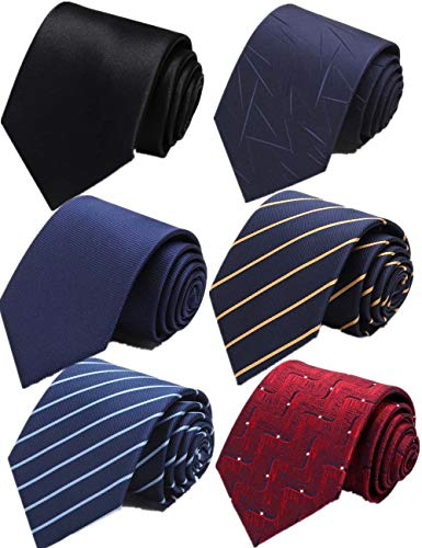 (WeiShang Lot 6 PCS 4 inch Extra Long Ties Classic Men's Wide Tie Necktie Neck Ties (Style 02))