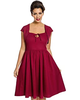 Lindy Bop Libby Dark Red Swing Dress and Bolero Set