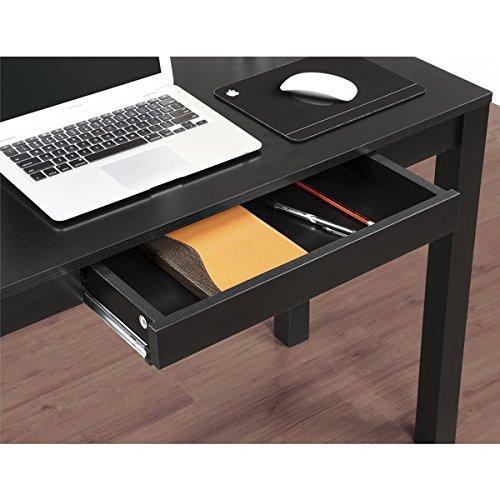 Ameriwood Home Parsons Black Writing Desk