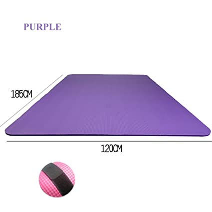 Desconocido 15 mm NBR Antideslizante Doble Esterilla de Yoga Pilates Ejercicio Estera al Aire Libre Mat