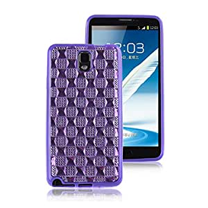 Nsstar Samsung Galaxy Note 3 / Note III Protective Case Cover TPU Silicone Back Shell with Bling Glitter Diamond Purple