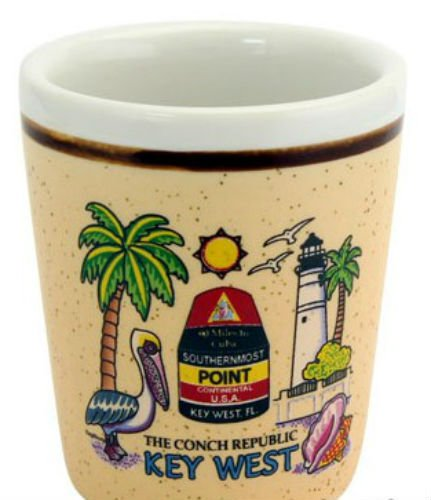 Key West Florida Ceramic Shot Glass
