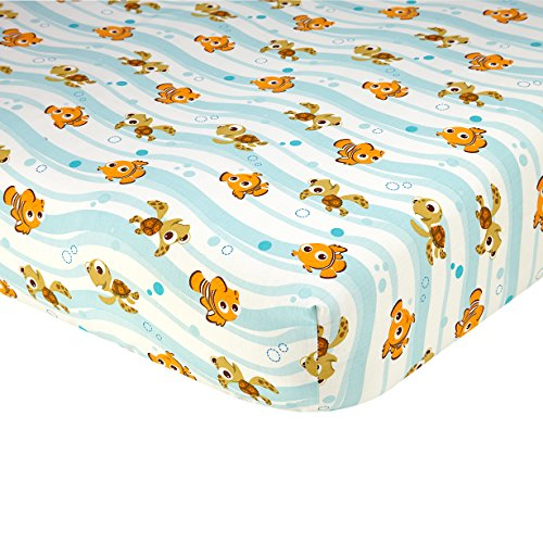 Disney Finding Nemo Crib Sheet, Blue ()