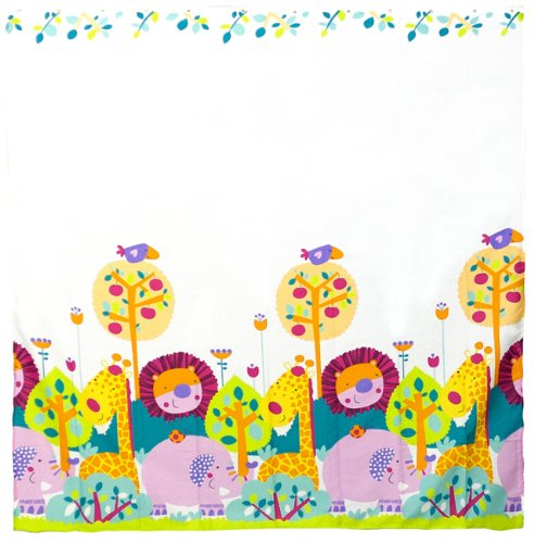 Kushies Baby Jungle Themed Shower Curtain, 4-Piece EZ2405