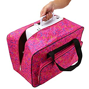 Balanu Sewing Machine Carrying Case Tote Bag-Padded Storage Cover Carrying Case with Pockets and Handles from Balanu