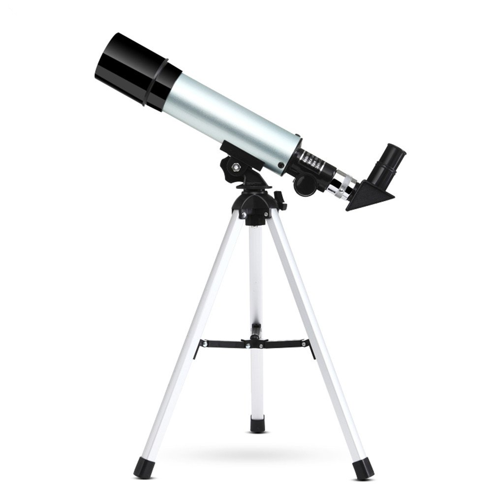 90X Portable Telescope Astronomical Refractor, with Tripod and Eyepiece, for Children Beginners Observation Sky Star Moon Birds SKM