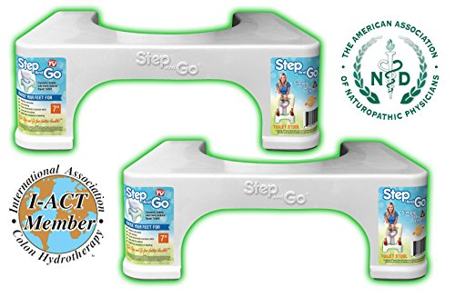 """Step and Go 2 Pack 7"""" Toilet Step (Pack of 2)"""