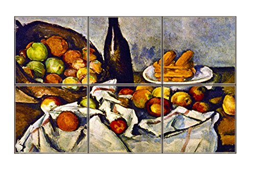 Apple Basket (Cezanne) Horizontal Tile Mural Satin Finish 12