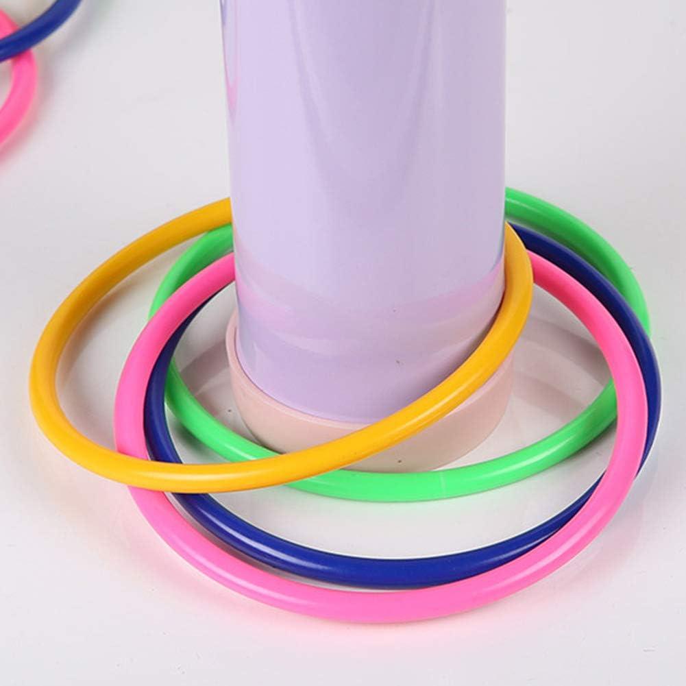 Matedepreso 10 St/ücke Multicolor Kunststoff Werfringe f/ür Kinder Ring Werfen Spiel Geschwindigkeit und Beweglichkeit Trainingsspiele Garten Hinterhof Spiele Im Freien