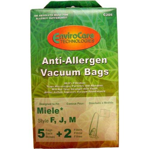 Miele Canister Vacuum Anti-Allergen Filtration Type FJM Bags 5 Pk Part C205   B0195YKQIC
