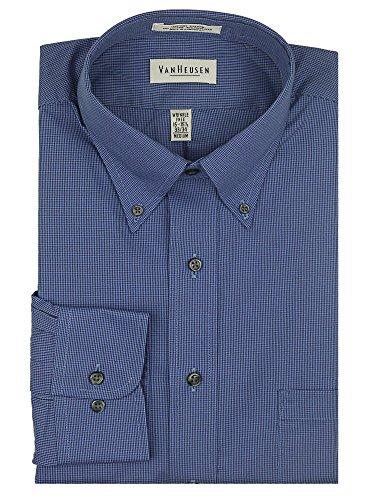 Van Heusen Mens Pinpoint Oxford Shirt (2XL, Persian Blue)