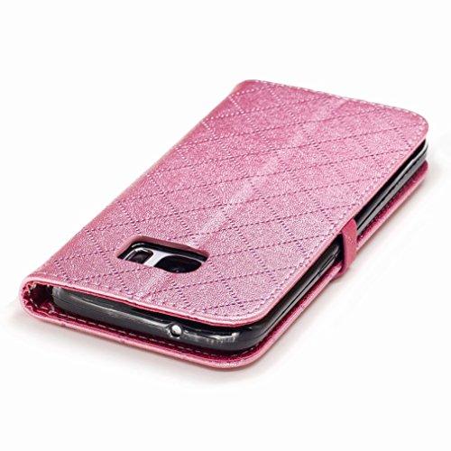 Yiizy Samsung Galaxy S7 / G930 / G930F / G930FD Custodia Cover, Amare Design Sottile Flip Portafoglio PU Pelle Cuoio Copertura Shell Case Slot Schede Cavalletto Stile Libro Bumper Protettivo Borsa (Ro