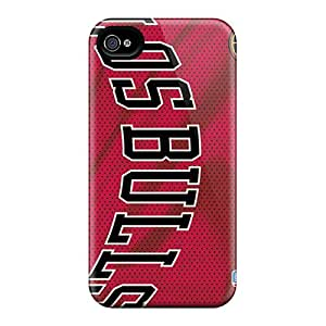 Shock-Absorbing Hard Phone Case For Iphone 4/4s (Bpd8535qjyJ) Provide Private Custom Attractive Chicago Bulls Series