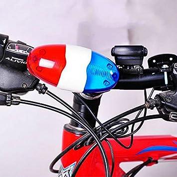 STYHOMSUN Bicicleta Bicicleta Ciclismo 4 Sonidos 6 LED Policía ...