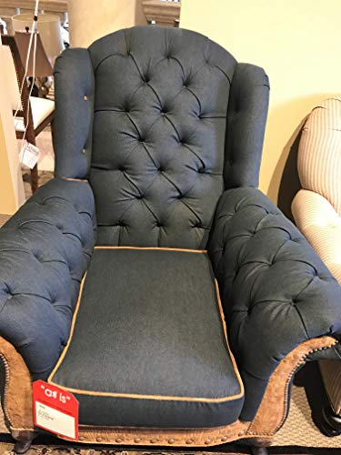 Leather Hickory Furniture Old (New Old Hickory Tanery Sofa Chair and Ottoman with Unique Line Fabric and Leather)