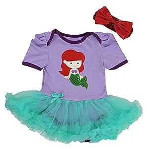 Disney - Vestido para bebé, para disfraz, diseño de Ariel