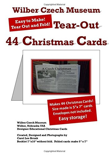 Wilber Czech Museum tear out 44 christmas cards: Wilber Czech Museum tear out 44 Christmas cards