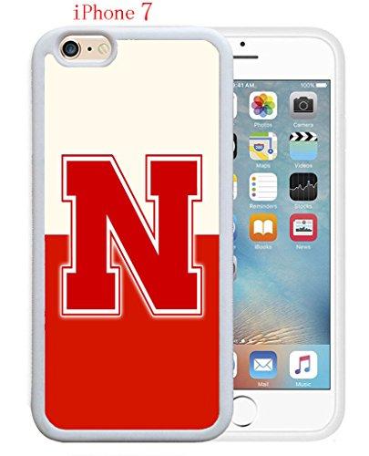 iPhone 7 Case,NU Nebraska Cornhuskers 4 Drop Protection Never Fade Anti Slip Scratchproof Soft Rubber TPU White Case 4.7 inch