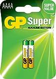 GP Super Alkaline AAAA (25A) card of 2