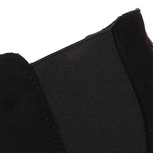 La Bout En Confort Bottes À Sxc01703 Des Mode Adeesu Antidérapants Femmes Daim Rond Noir RdSzXUq