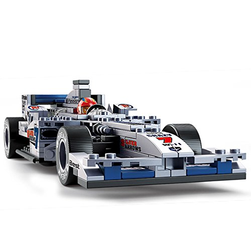 Sluban M38-0352 Formula Racing Blocks F1 Bricks Toy 1:24 ¨C F1 Racing Silver Arrow (Arrow Racing)