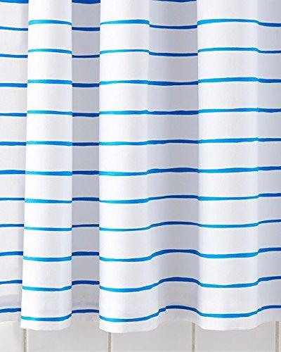 Serena & Lily Jamesport Stripe Shower Curtain - Baltic Blue
