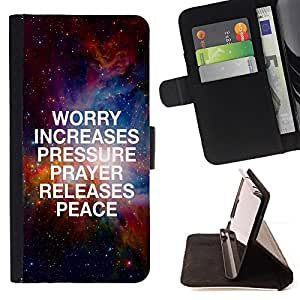 """BullDog Case - FOR/Sony Xperia Z1 Compact D5503 / - / """"WORRY INCREASES PRESSURE /- Monedero de cuero de la PU Llevar cubierta de la caja con el ID Credit Card Slots Flip funda de cuer"""