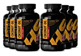 Metabolism Pills - COCONUT OIL EXTRA VIRGIN - Weight loss supplement - 6 Bottles 360 Softgels