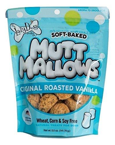 Lazy Dog Mutt Mallows Soft Baked Dog Treats Original Roasted Vanilla 5 Oz