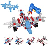 Gamzoo Take-A-Part Aerial Rescue Building Blocks 5 in 1 with Real Working Drill for Kids 6 Years and Up(274Pcs)