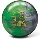 Brunswick Rhino Bowling Ball, 13 lbs, Green/Silver