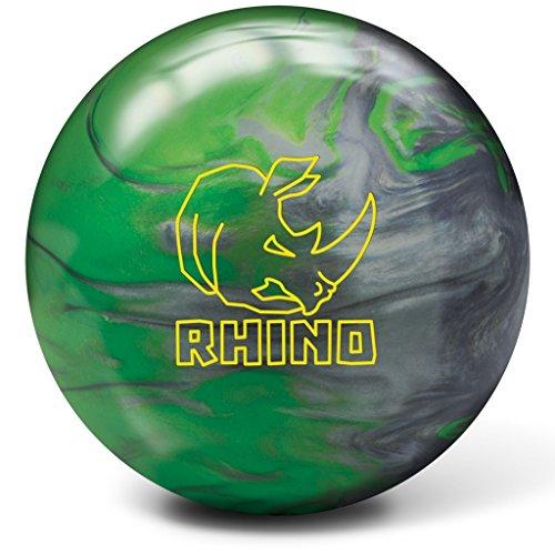 Brunswick Rhino Bowling Ball, Green/Silver, 15 lb