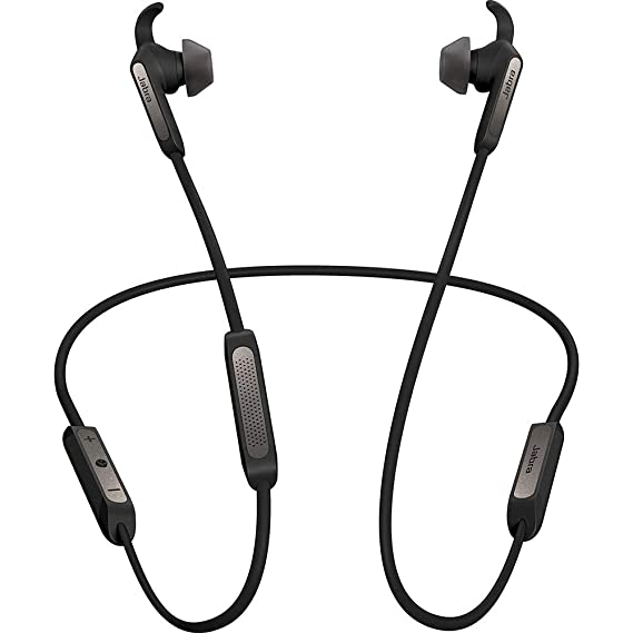 148d82df79f Jabra Elite 45e Alexa Enabled Wireless Bluetooth in-Ear Headphones -  Titanium Black