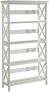 Convenience Concepts Oxford 5 Tier Bookcase, White
