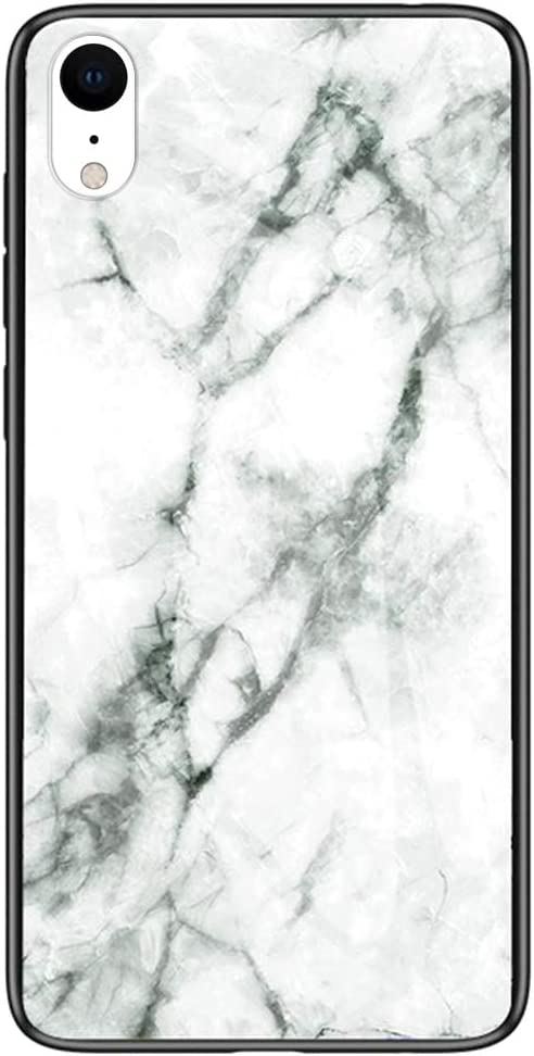 Marmo Cover iPhone XR, Hpory Custodia iPhone XR - TPU Vetro ...