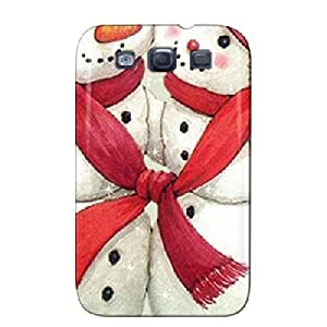 Mr_and_Mrs_Snowman Scratch-free Protective Hard Case For Sumsang Galaxy S3 White Mr_and_Mrs_Snowman 3D And CG