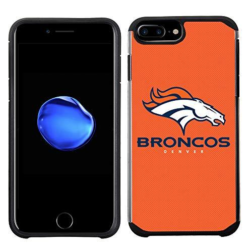 Prime Brands Group Cell Phone Case for Apple iPhone 8 Plus/iPhone 7 Plus/iPhone 6S Plus/iPhone 6 Plus - NFL Licensed Denver Broncos Textured Solid Color]()
