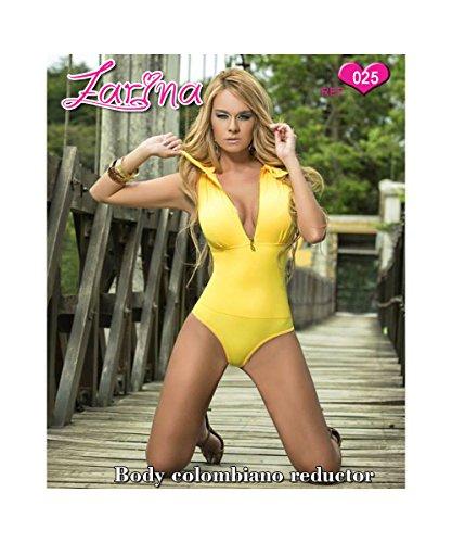 ZARINA®Body Colombiano Estampado Varios Colores - Body Con Faja 025 AMARILLO