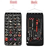 LZMU Hanging Jewelry Organizer,JewelryAccessory Storage Bag,Necklace Earrings Bracelet Display Holder with Metal Hanger