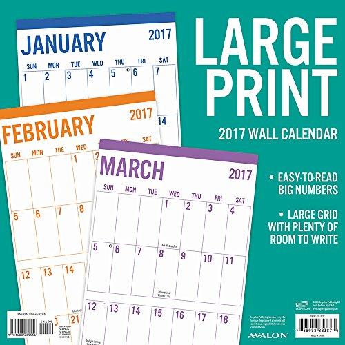 large print 2017 calendar online shopping office depot. Black Bedroom Furniture Sets. Home Design Ideas
