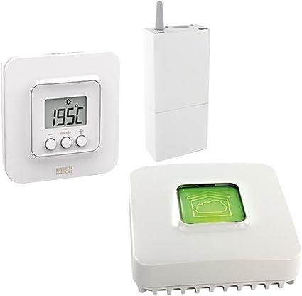 Delta Dore - 6050632 Tybox 5100 Pack de Termostato ambiente conectado con passarel la domótica IP