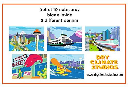 Seattle Blank Note Cards Set - Dries Von Noten